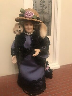 Dolls House Miniature 1:12th Scale Handmade Porcelain doll