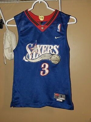 a58ef444ab6 Vtg Nike PHILADELPHIA 76ERS Allen Iverson Sixers Basketball Jersey Youth  SMALL