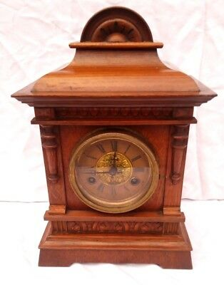 19th century Oak German 8 day mantle clock