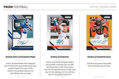 2018 Panini Prizm Football Hobby Live Pick Your Player (Pyp) 1 Box Break