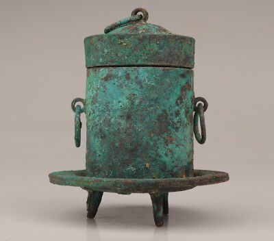Valuable Rare Chinese Bronze Censer Incense Burner Old Qing Dynasty