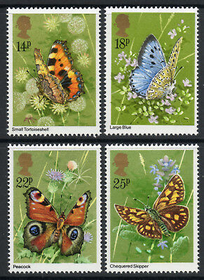 GB 1981 Butterflies Set of 4. SG 1151-1154. MNH.