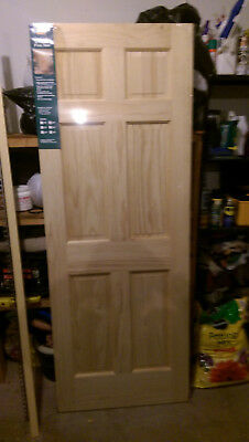 "Raised 6 Panel Pine Door 80"" x 30"""