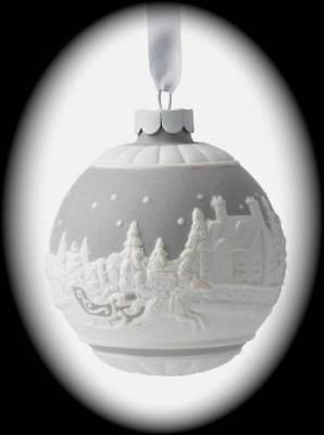 WEDGWOOD Christmas Sleigh Ride Grey Ornament/40009017/New in Box