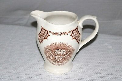 "Alfred Meakin FAIR WINDS Brown England 48 oz - 7 1/4""h - Pitcher"