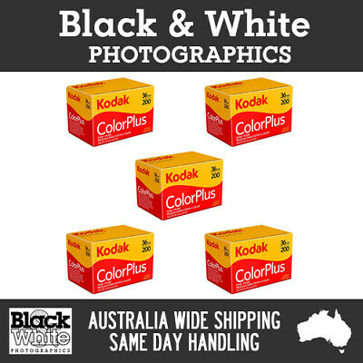 *New* Kodak ColorPlus 35mm 36exp 200 (5 rolls) - Fresh Stock!