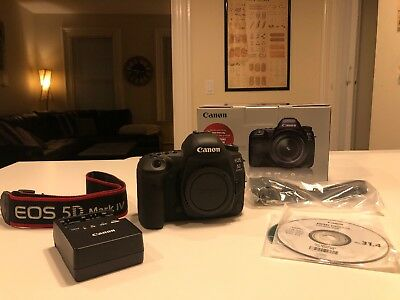 Canon EOS 5D Mark IV 30.4MP Digital SLR Camera - Black (Body Only) 10/10 Perfect