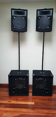 DJ Band PA FOH Front of House Speaker System Subs Tops