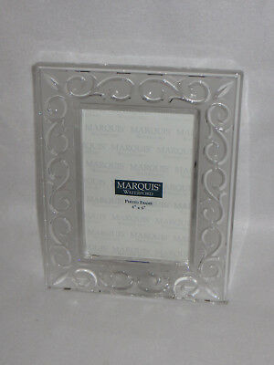 """""""arabesque"""" Waterford Marquis Crystal 4 X 6 Picture Frame - Mib"""