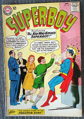 Superboy #104 - The Untold Story of the Phantom Zone! Curt Swan! Papp! Nice copy