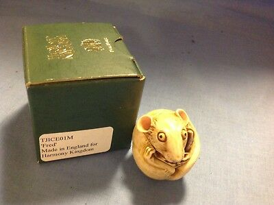 Harmony Kingdom Roly Poly Fred the Mouse trinket, jewelry box made in England