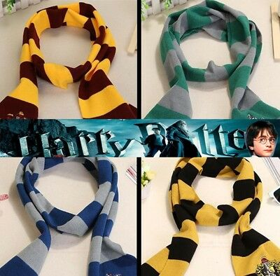 Harry Potter Costome Gryffindor Slytherin Ravenclaw Hufflepuff Scarf gift
