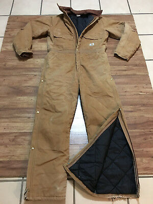 MENS 44 TALL - Vtg Carhartt X02 Duck Arctic Quilted Insulated Work Coverall USA