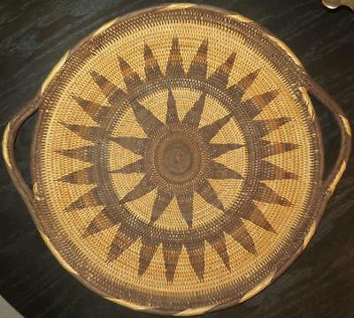 Vintage Native American Hand Woven Basket Wedding Tray Unidentified Unresearched