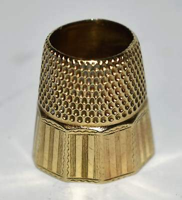 Antique 19th C. Solid 10K Gold Faceted Thimble  4.6g