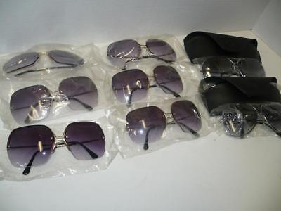 Vintage Lot of 8 1970s Sunglasses - Fashion, Aviator - Made in Taiwan - NEW