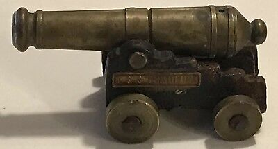 "Vintage OX MFCO Brass & Cast Iron USS CONSTITUTION 3"" Mini Cannon Model"