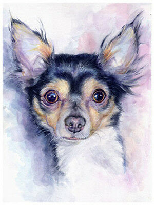 artav Chihuahua 02 Art Print From Watercolor Painting