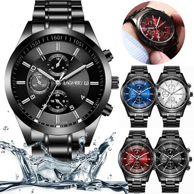 Luxury Automatic Mechanical Watch Men's Skeleton Steel Stainless Wristwatch