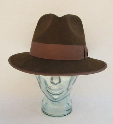 c6c095e2aa0 ... netherlands authentic indiana jones harrison ford pure wool fedora hat  mens large brown 5f05b 14622