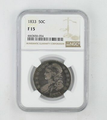 F15 1833 Capped Bust Half Dollar - NGC Graded *0233
