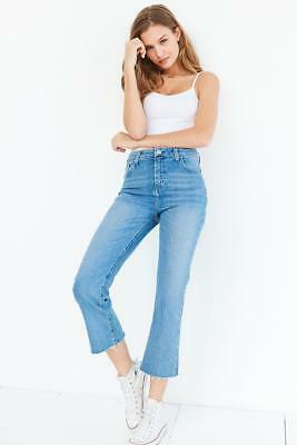 4d1244149d BDG Urban Outfitters Women's Kick Flare High-Rise Cropped Jean, Stone Bleach,  ...