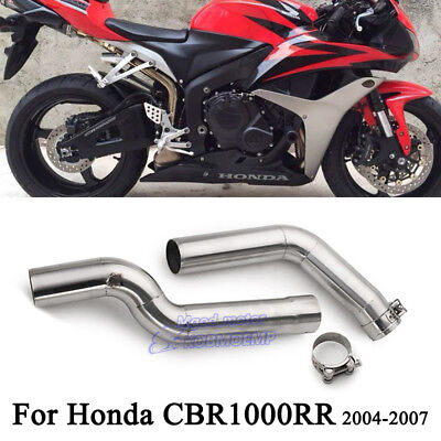 For Honda CBR1000RR 2004-2007 Exhaust System Connect Middle Pipe Stainless Steel