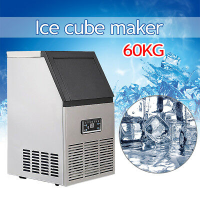 60kg Built-In Stainless Steel Commercial Ice Maker Auto Ice Machine Restaurant