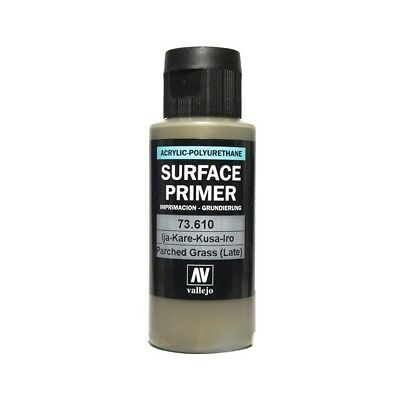 Vallejo Surface Primer Acrylic Polyurethane Parched Grass 4BO 60ml Bottle #73610