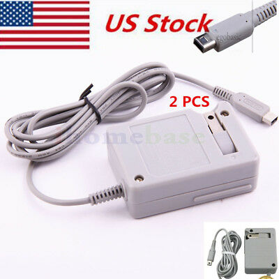 US Charger Power Adapter Cord Cable Travel Home Wall  2PCS 2DS XL 3DS NDSi DSi