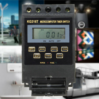 KG316T 220V Programmable LCD Microcomputer Power Supply Timer Switch