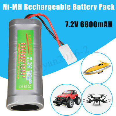 7.2V 6800mAH Ni-MH Rechargeable Battery Pack+Charger Toy Vehicle/Boat/AirPlane /