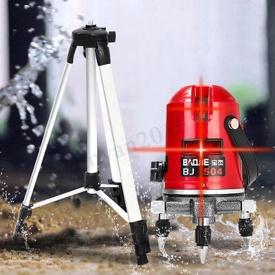 5 Lines 6 Points 360° Rotary Laser Level Line Self-Leveling Measure+Tripod Kit /