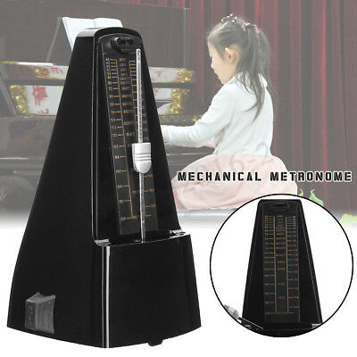 Precise Mechanical Metronome Wood Vintage Style Art Music Timer For Guitar