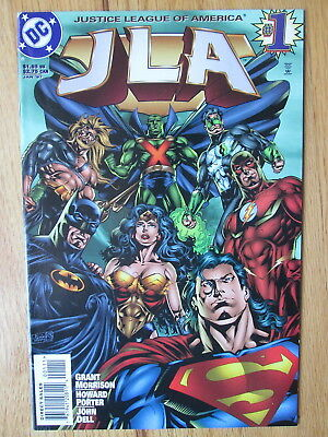 JLA #1 (1997) Justice League of America * Grant Morrison * SUPERMAN * Batman *