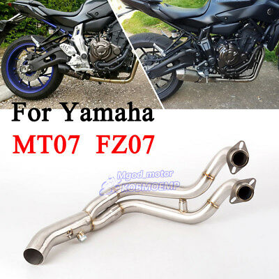 For Yamaha MT07 FZ07 Full Exhaust System Connect Front Pipe Stainless Steel Pipe