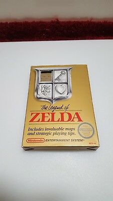 The Legend Of Zelda Nes Cib Complete Gold Cart W/map,instructions, And Pamphlets