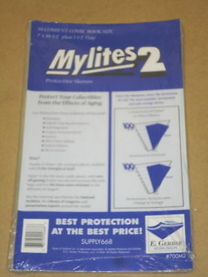 500 Factory Sealed Gerber Mylites2 CURRENT =BCW current Mylar FREE PRIORITY SHIP