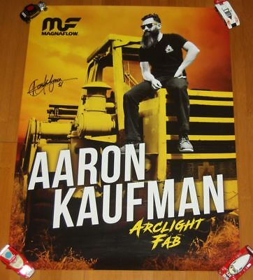 2017 Aaron Kaufman signed Magnaflow Gas Monkey Garage SEMA Show Promo Poster