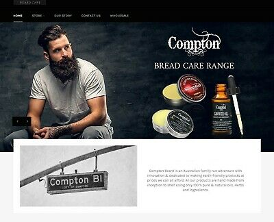 Compton PREMIUM BEARD OIL 100% Natural Organic Vegan Friendly 30 ml Dropper
