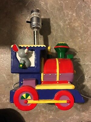 Train Lamp with Elephant by Dolly, Model 0581 Multi Color