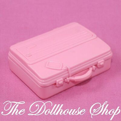 Fisher Price Loving Family Dollhouse Dolls Pink RV Travel Suitcase Luggage Bag