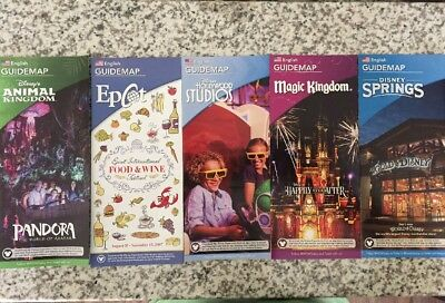 NEW 2017 Walt Disney World Theme Park Guide Maps - 5 November 2017