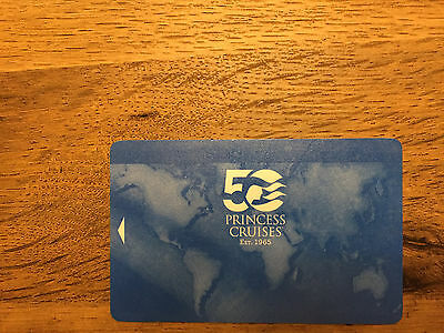 Princess Cruise Line 50th Anniversary Sea Pass Card - Blank