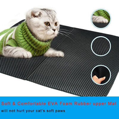 TRAP LITTER MAT - LITTER LOCKER Foldable CAT MAT Waterproof Double-Layer Pad Pet