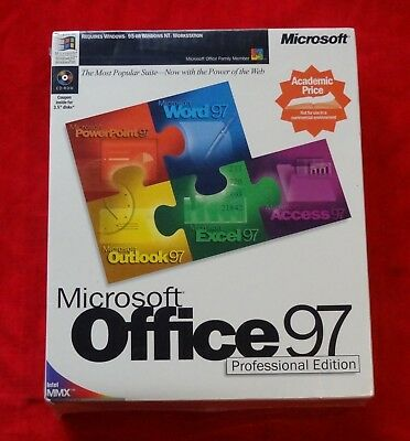 Microsoft Office 97 Professional Edition For PC Full Retail Version NEW IN BOX