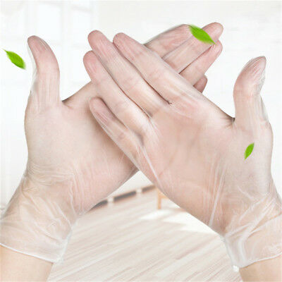 Disposable Transparent Latex Nitrile Gloves 5 Pairs Medical Mechanic Tattoo Work
