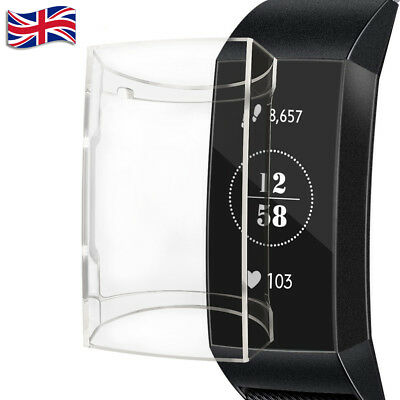 For Fitbit Charge 3 Hard PC Protective Case Screen Protector Case Cover - UK