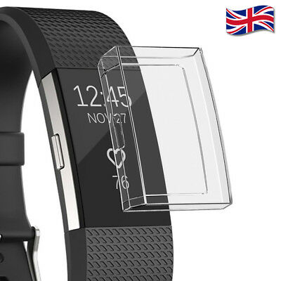 UK 6 Colours PC Transparent Screen Protector Case Cover for Fitbit Charge 3