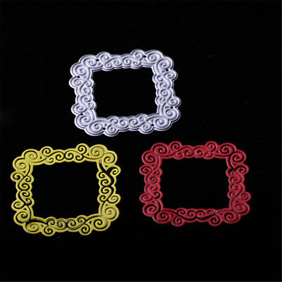 Square Lace Metal Cutting Dies Stencil For DIY Scrapbooking Photo Album Decor;